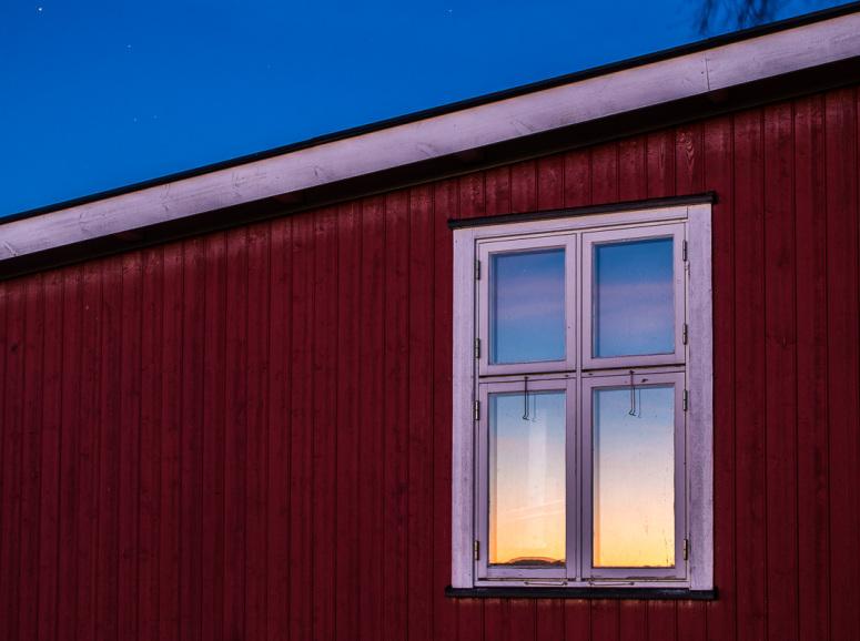 speilbilde av solnedgang